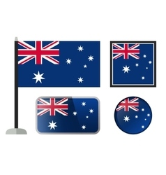 Australian flag icons vector image