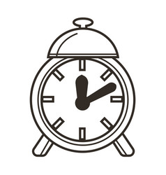 awaking to school alarm clock time concept and vector image