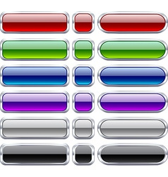 Bar blank buttons vector