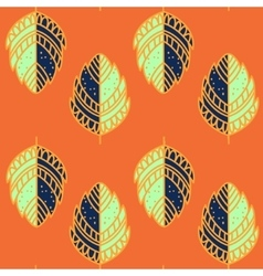 Bright leave ethnic pattern vector image