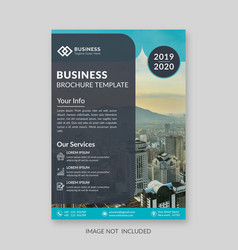 business brochure cover template vector image