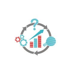 business plan logo design template vector image