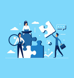 business teamwork concept office workers collect vector image