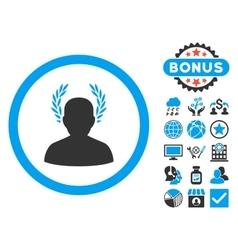 Caesar Flat Icon with Bonus vector