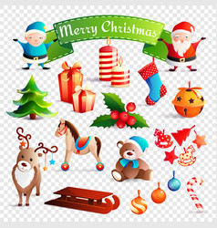 christmas cartoon set vector image