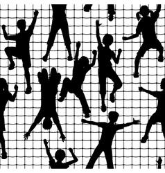 Climbing kids tile vector image