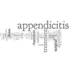 Common forms treatment for appendicitis vector