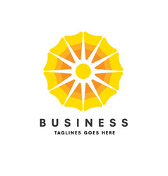 creative sun with bright color logo vector image