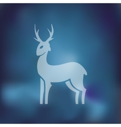 Deer icon on blurred background vector
