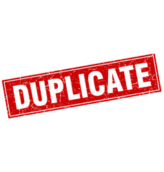 duplicate square stamp vector image