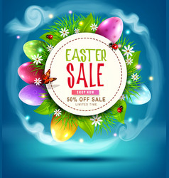 Easter sale banner advertising vector