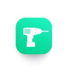 Electric screwdriver icon vector