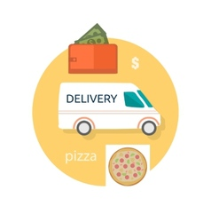 Fast food pizza delivery vector