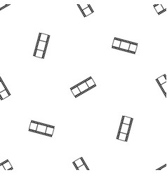 film with frames pattern seamless black vector image