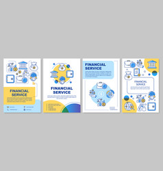 Financial service template layout flyer booklet vector