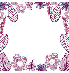 Flowers branches decoration design vector