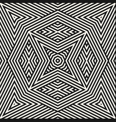 geometric lines pattern stylish black and white vector image