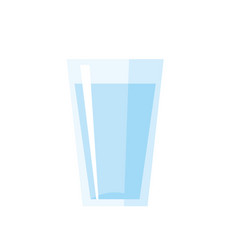 glass of water isolated vector image