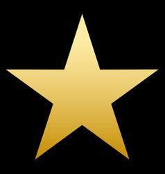 golden star simple form black background vector image