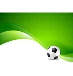 Green wavy soccer texture background with ball vector