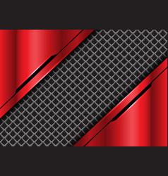 grey square mesh in red metallic futuristic vector image