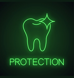 healthy shining tooth neon light icon vector image