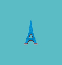 icon flat eiffel tower element vector image