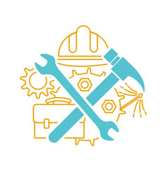 Icon of tools on labor day vector