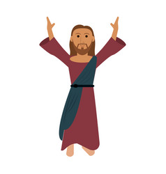 jesuschrist cute cartoon vector image