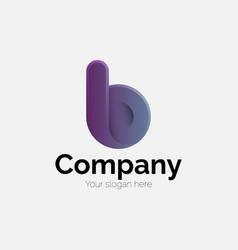 Letter b modern logotype vector