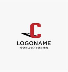 letter c logo icon on white background vector image