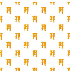 Letter h from honey pattern vector
