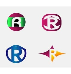 Letter R Logo alphabet design element vector