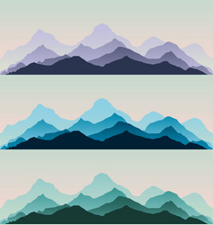 Majestic mountains panorama background vector