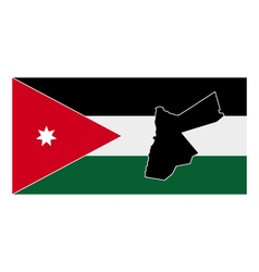 map of Jordan with flag vector image