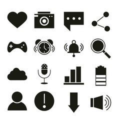mobile application like camera message sms share vector image