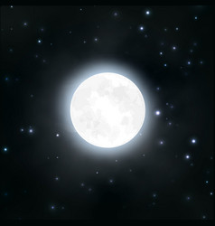 moon night sky stars vector image