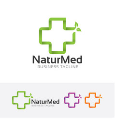Natural medical logo vector
