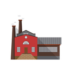 old-fashioned manufacturing building with entrance vector image