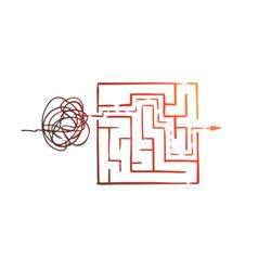 Organize order control sort chaos concept vector
