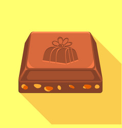 piece of chocolate icon flat style vector image