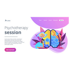 Psychotherapy session landing page vector