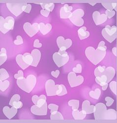 purple violet bokeh heart pattern vector image