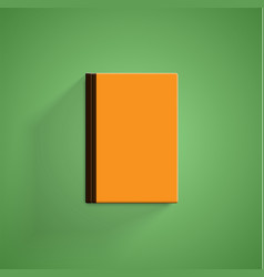 realistic colorful book with green background and vector image