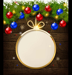 round christmas design with decorative vector image