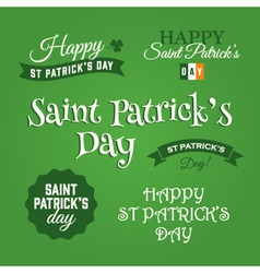 saint patrick design elements vector image