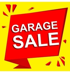Sale poster with GARAGE SALE text Advertising vector