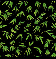 seamless background bamboo leaves vector image