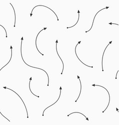 seamless pattern curved arrows arrows of vector image