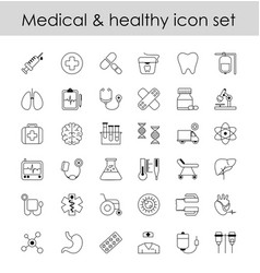 set of line icons sign vector image